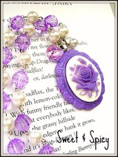 """THE ONE AND ONLY""ROSE CAMMEO NECKLACE"