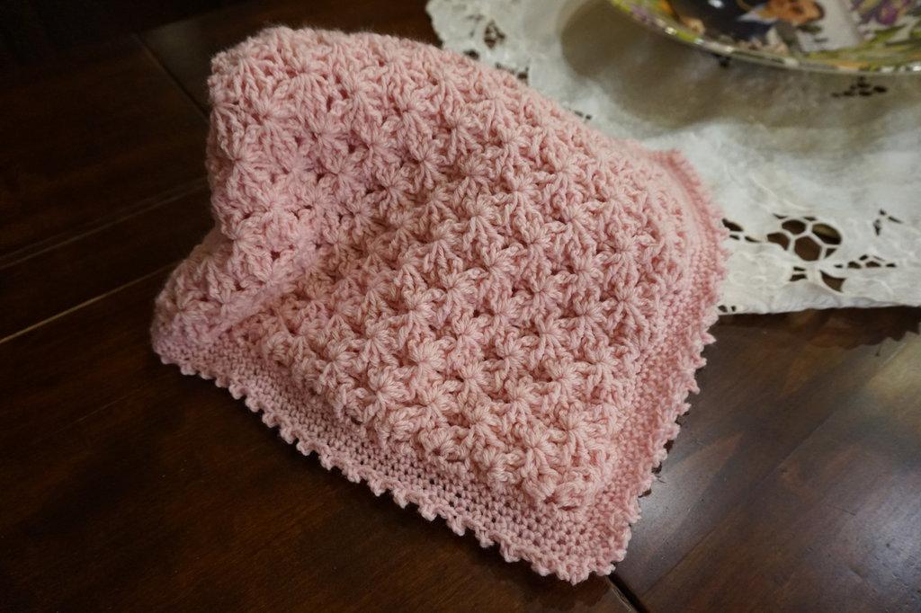Copertina nascita lana . Personalizzabile