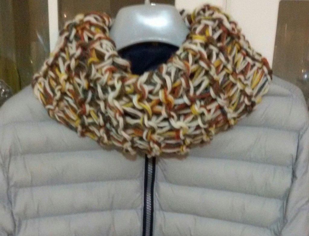 Sciarpa  scaldacollo handmade  UOMO