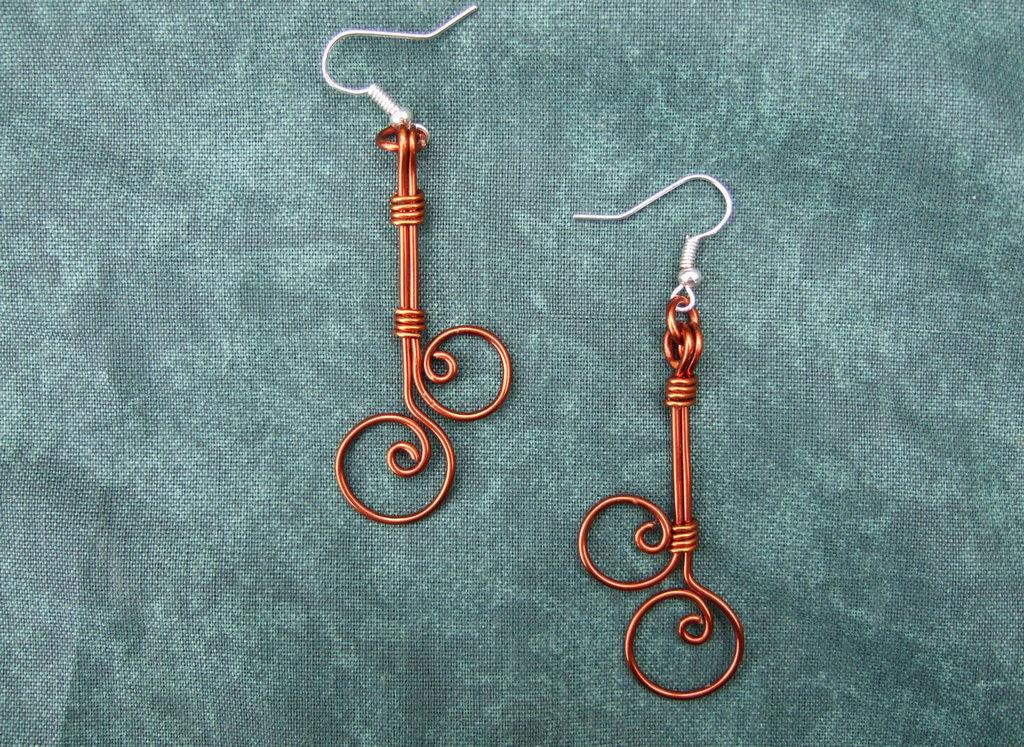 Pendientes de hilo de cobre