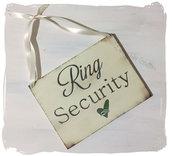 Cartello matrimonio in legno per  Paggetto o Damigella portafedi : Ring Security