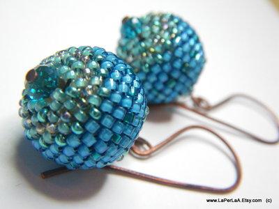 Orecchini Globo Azzurro