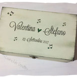 Scatola in legno Guestbook per matrimonio