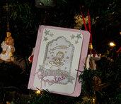 Shaker card natalizie con angioletto fatte a mano.