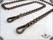 Catena per borsa, ferro color bronzo mm.9,5 - misura 60 cm.