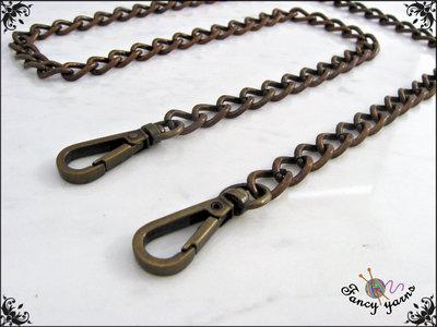 Catena per borsa, ferro color bronzo mm.9,5 - misura 120 cm.